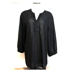 Christopher & Banks black blouse for women size L